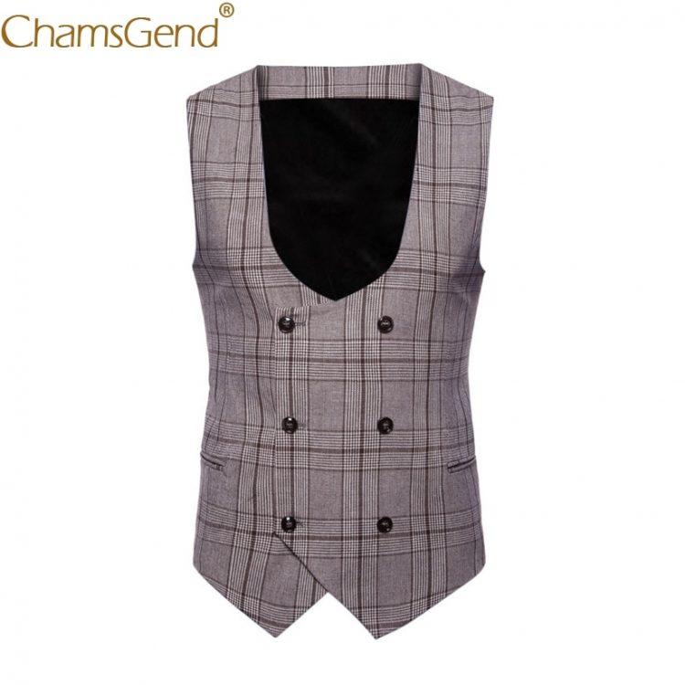 British Plaid Vest Formal Suit
