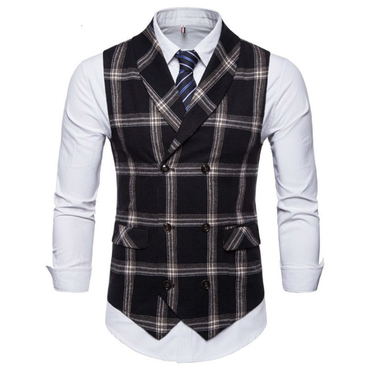 Double Breasted Vest Waistcoat