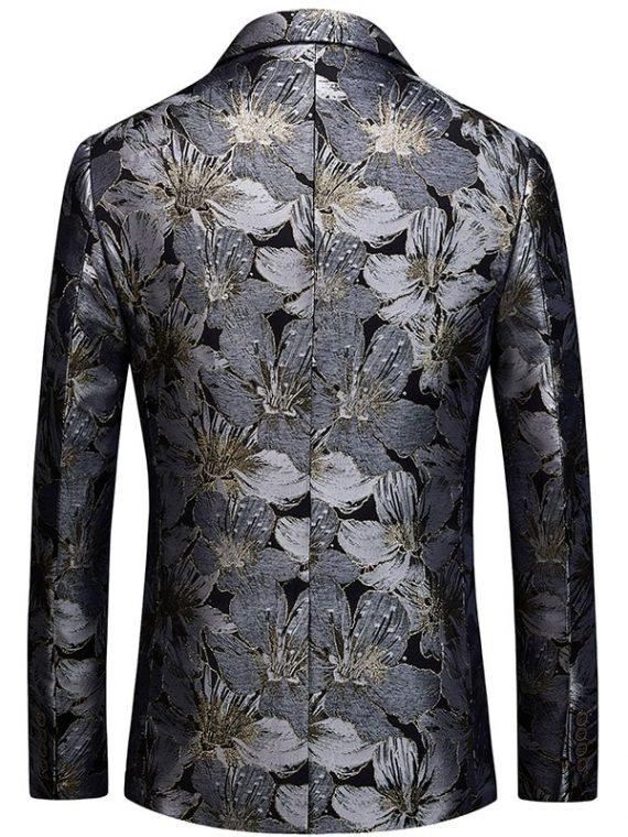 Floral Blazer Slim Fit Suit Jacket