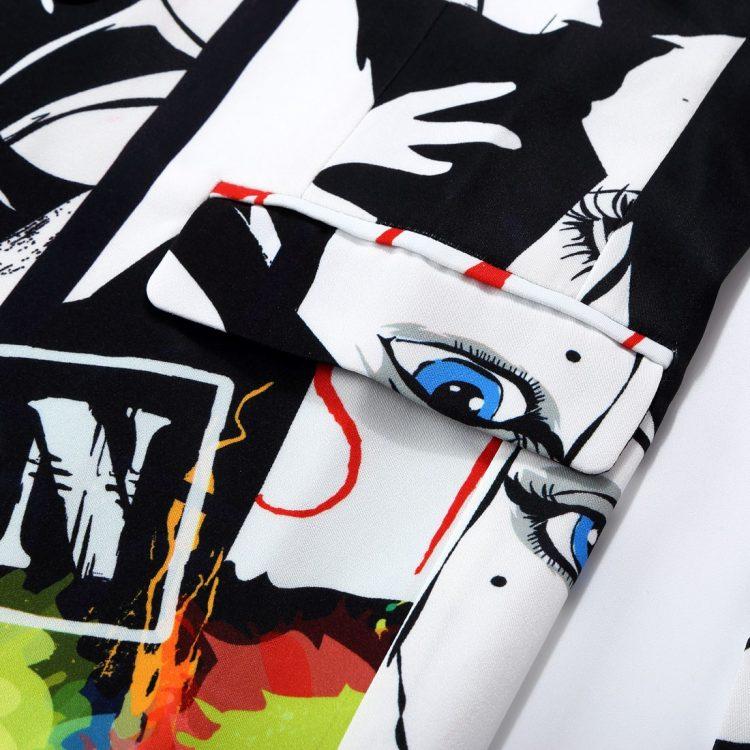 Men's Fashion Print Blazer Pant