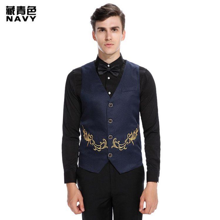 Men Suit Vest Male Waistcoat