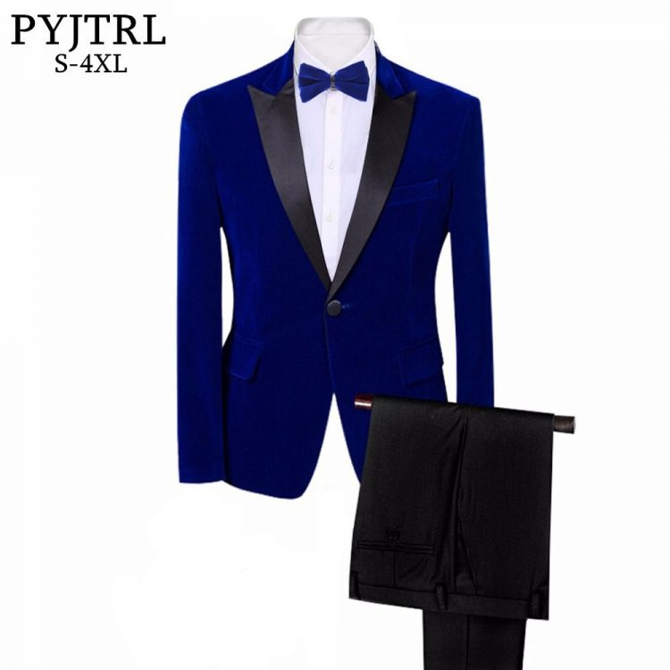 Royal Blue Black Wedding Groom