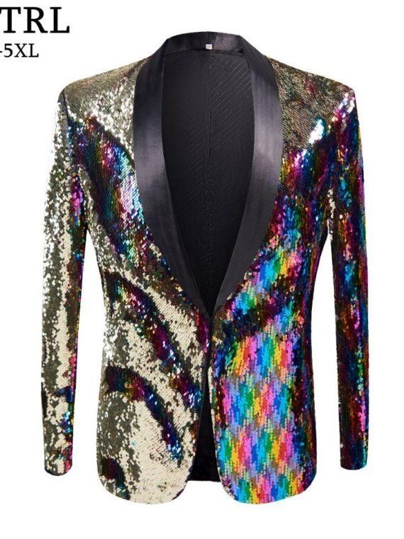 Sequins Blazer Nightclub Jackets