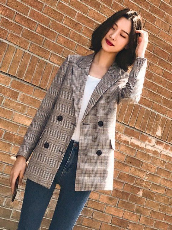 Women Blazer Pockets Jackets