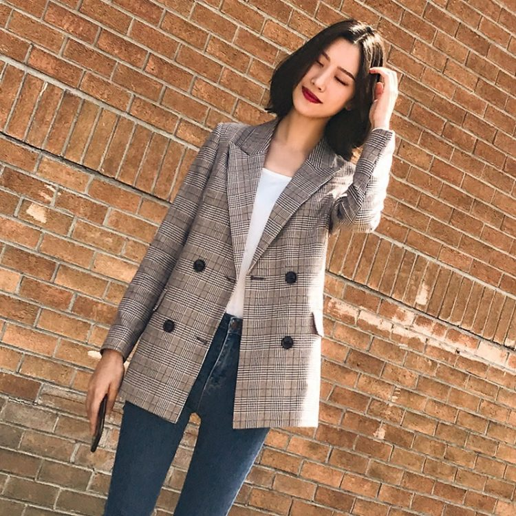 Women Blazer Pockets Jackets