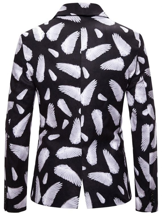 Angel Wings Printed Blazers Jacket