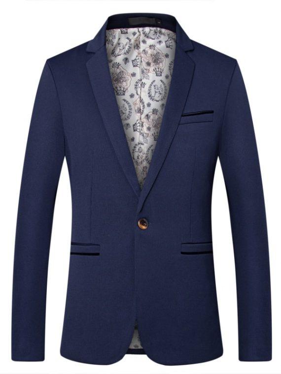 British's Style Blazers Slim Fit Suit Jacket