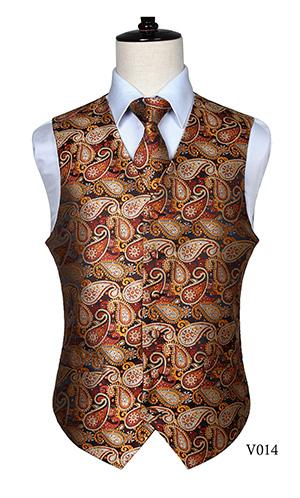 Classic Paisley Jacquard Waistcoat Vest