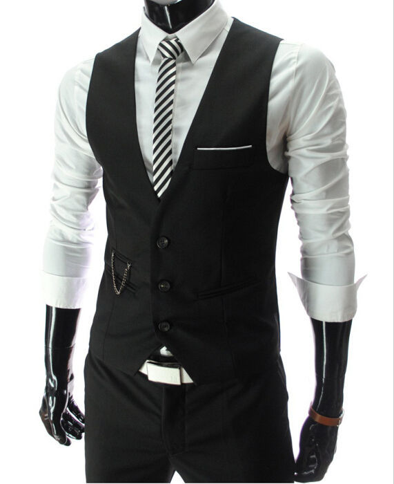 Dress Vests For Men Waistcoat Gilet
