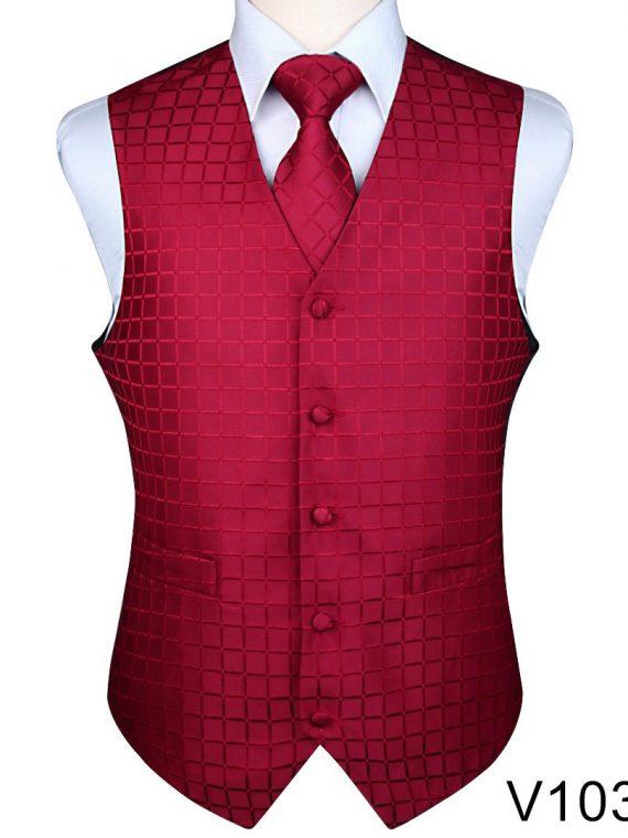 Floral Jacquard Waistcoat Vest