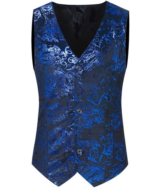 Gold Printed Steampunk Vest