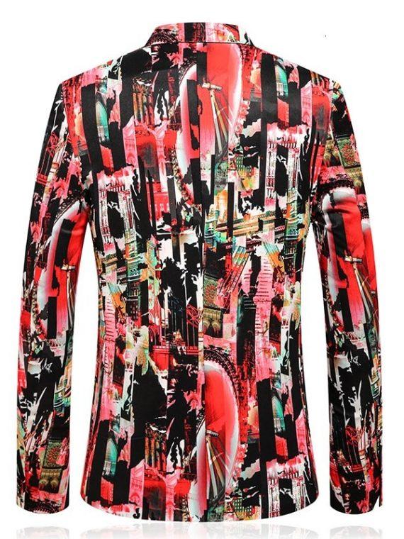 Hombre Blazer Flower Printed Suit
