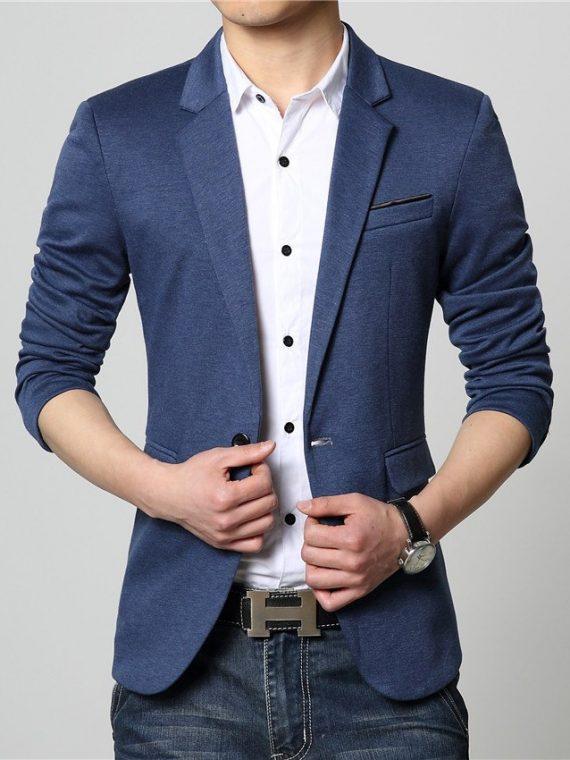 Luxury Woolen Blends Patchwork Slim Suit