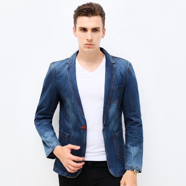 Men Blazer Trend Jeans Suits5