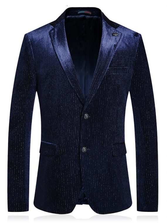 Men Luxury Blazer Masculino Chaqueta
