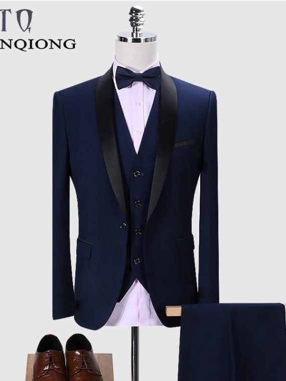 Men Suit Royal Blue Wedding Suits5