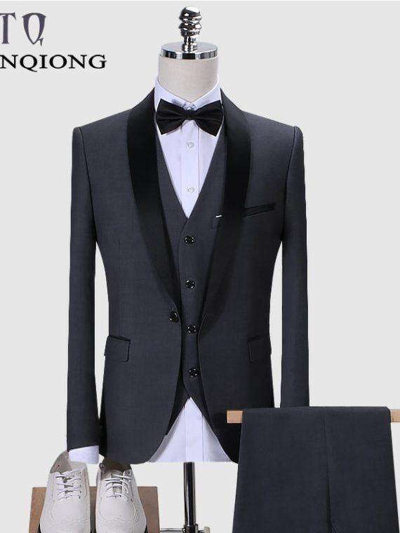 Men Suit Wedding Suits Shawl Collar