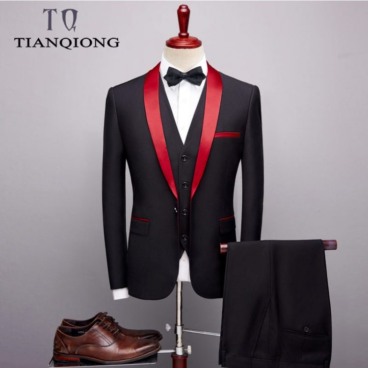 Men Suit Wedding Suits Shawl Collar