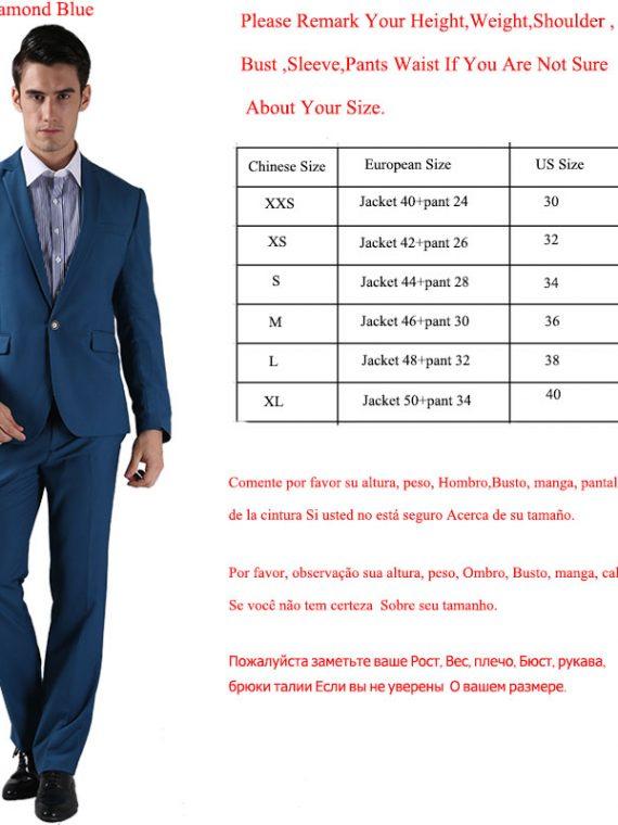Men Suits Slim Custom Fit Tuxedo