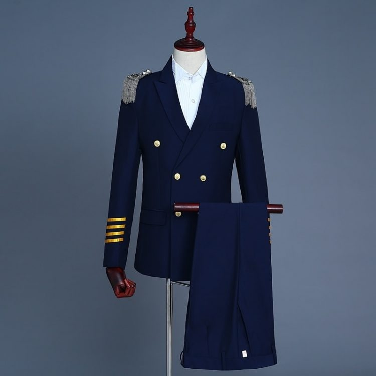 Men's Captain Suits Latest Coat Pant