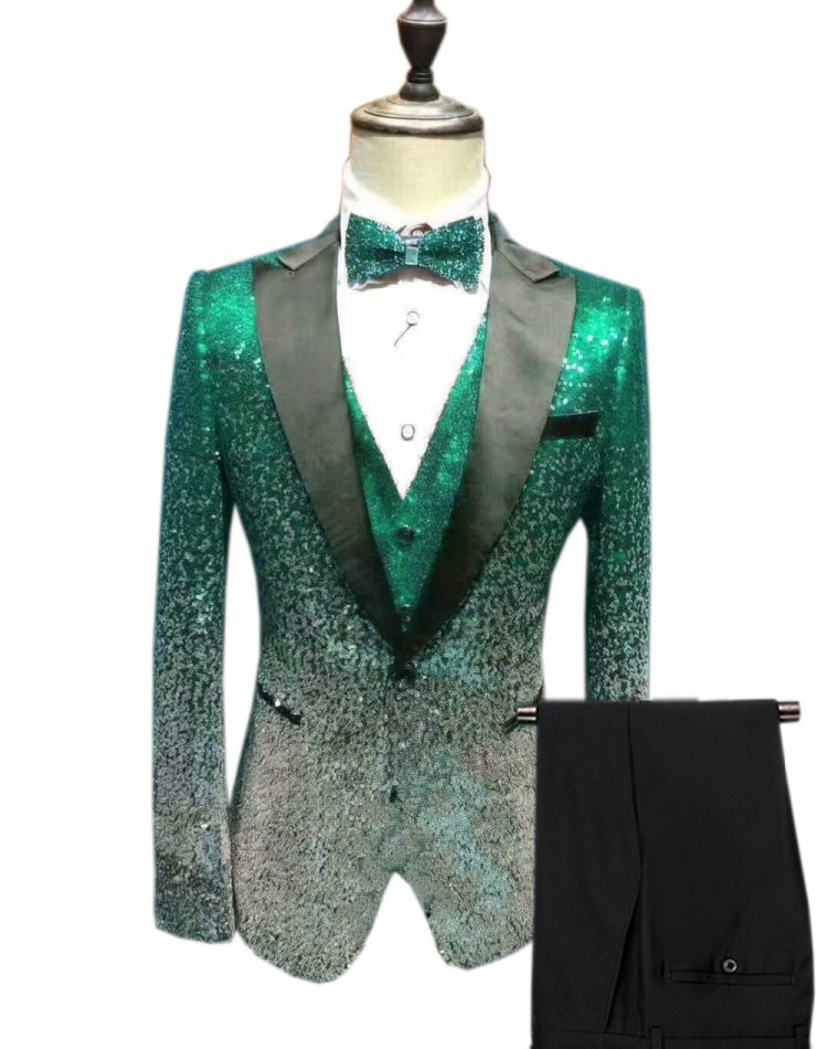 Men's Sequin Suit Wedding Groom
