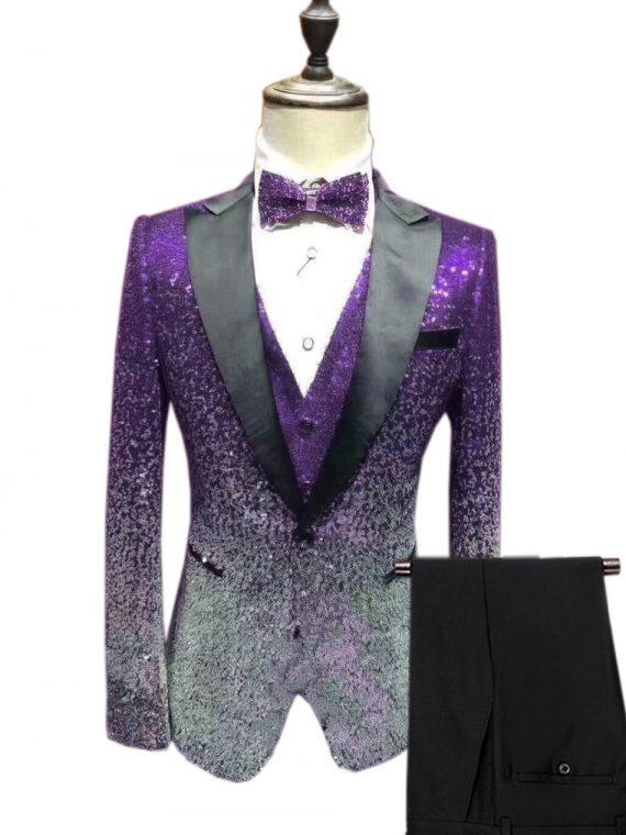 Men's Sequin Suit Wedding Groom
