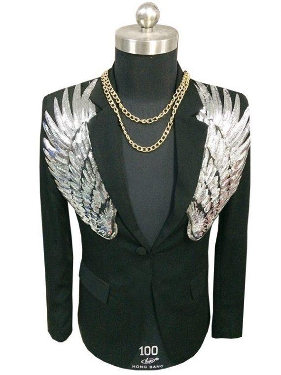 Sequin Blazer Wing Sequin Blazer