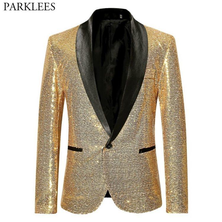 Sequin Bling Glitter Suits Blazer