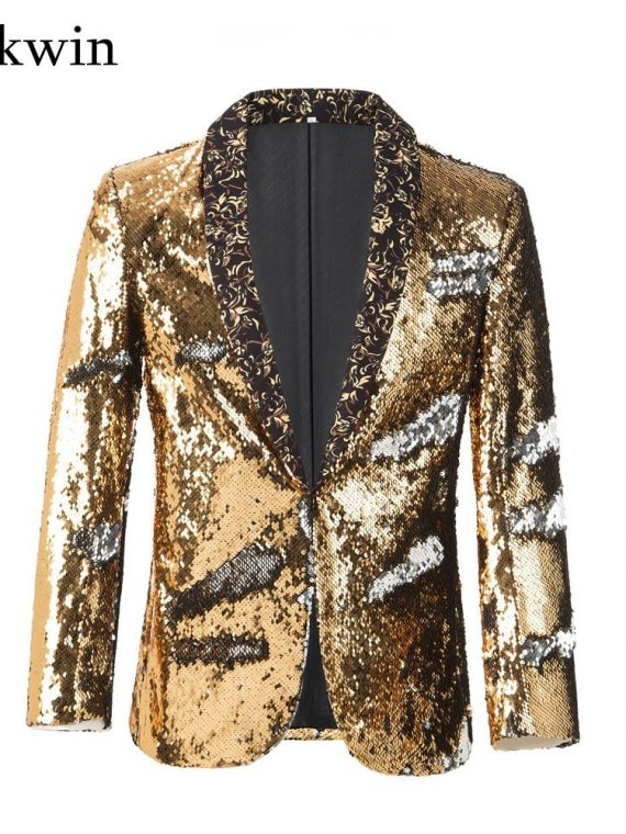 Sequin Stage Jacket Men Blazer