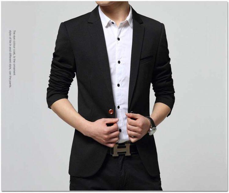 Single Button Suit Blazer Wedding Blazer