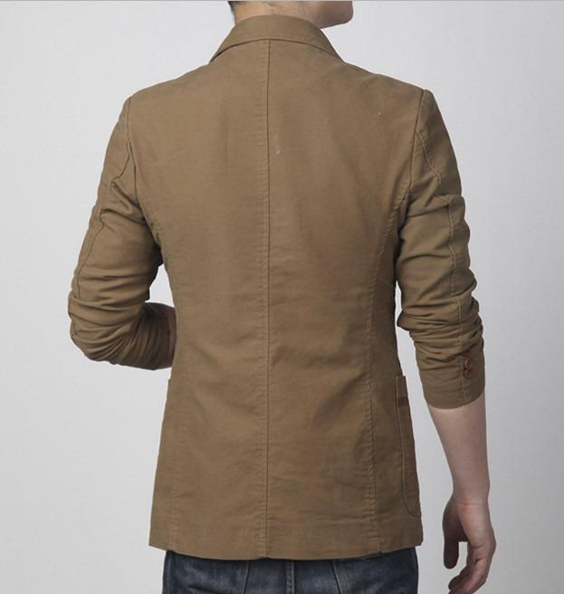 Slim Fit Blazer Leather Patchwork