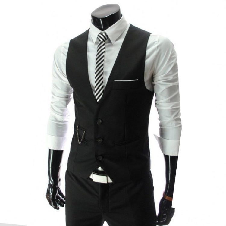 Slim Fit Leisure Cotton Suit Vest