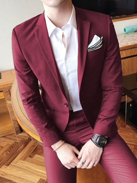 Slim Fit Man Suits Brand Blazer