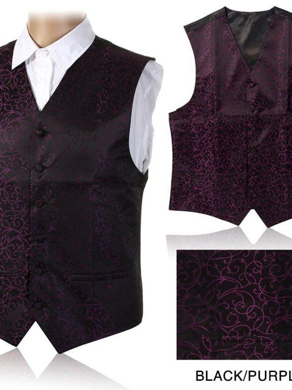 Slim Fit Men Vest Suit Paisley Coletes