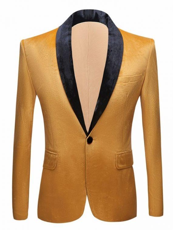 Velvet Fashion Suit Jacket