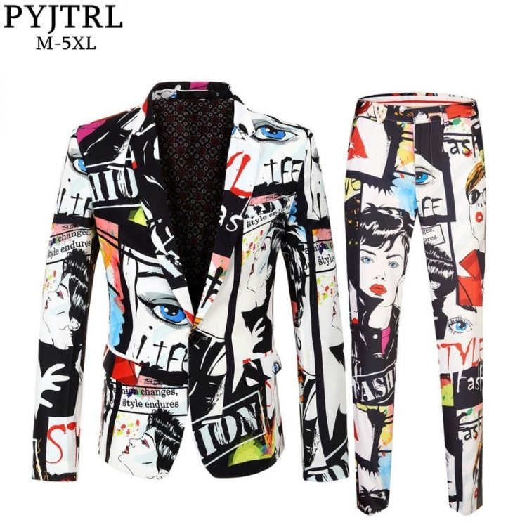 Casual Suits Singer Wedding Costume