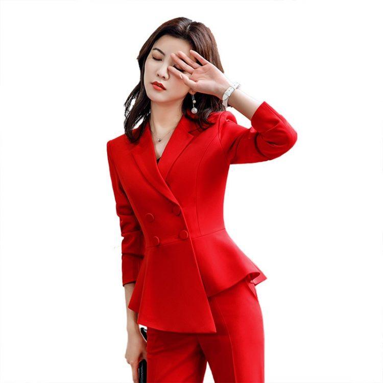 Formal Elegant Suits Ladies Trousers