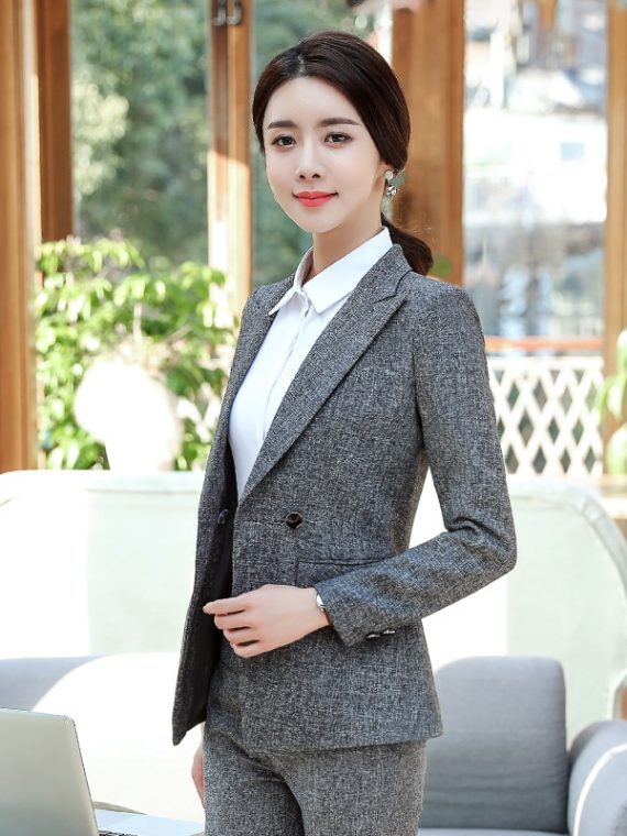 Formal Pant Suits Women Blazer