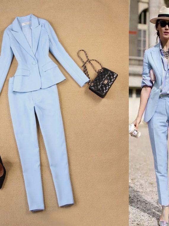 Jacket Trouser Suits Ladies Pants Suit
