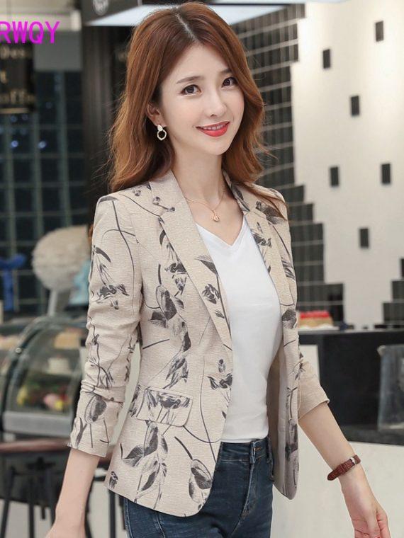 Korean Blazer Printing Small Suit