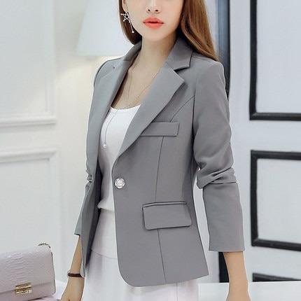Ladies Business Suit Slim Short Blazer