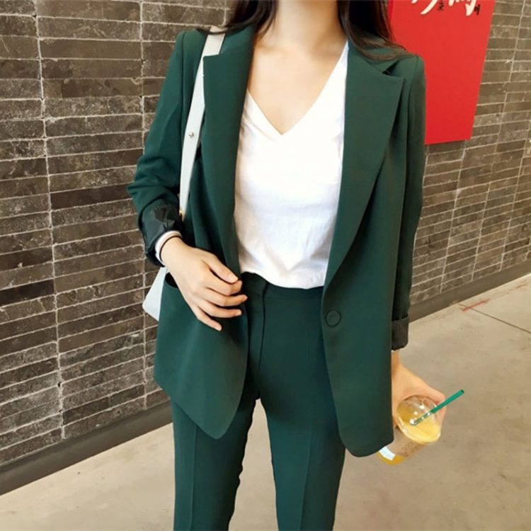 Ladies Pant Suits Blazer Jacket
