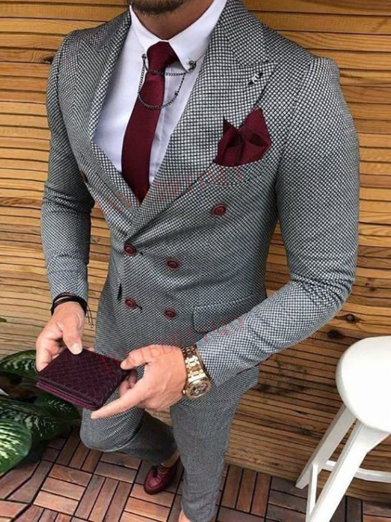 Latest Coat Pant Double Breasted Suit