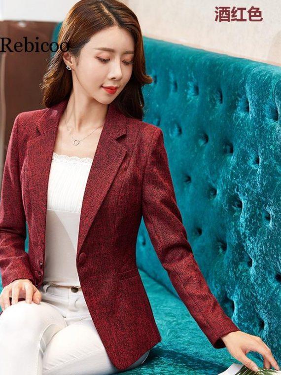 Long Sleeve Blazer Women Thin Blazers