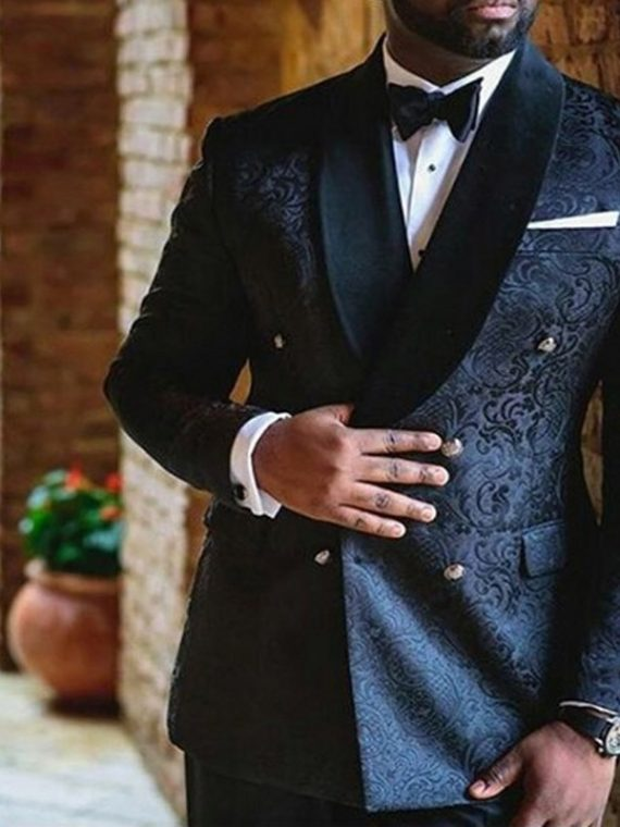 Navy Blue Wedding Men Suits