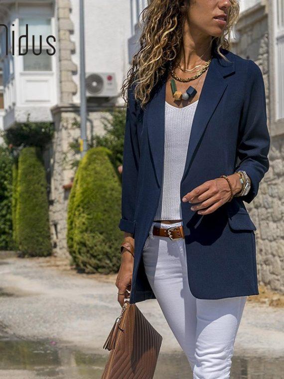 Slim Blazers Women Suit Jacket