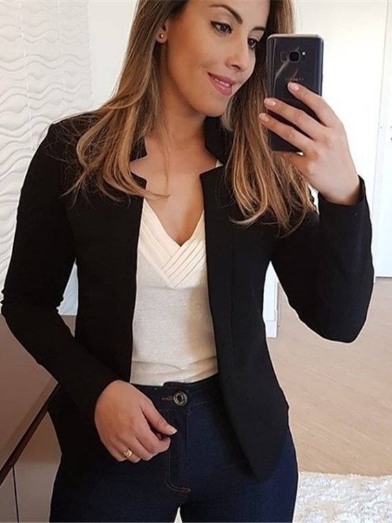 Vintage Office Lady Black Blazer