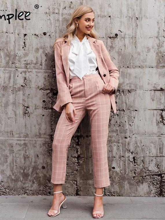 Women Blazer Suits Pink Blazers