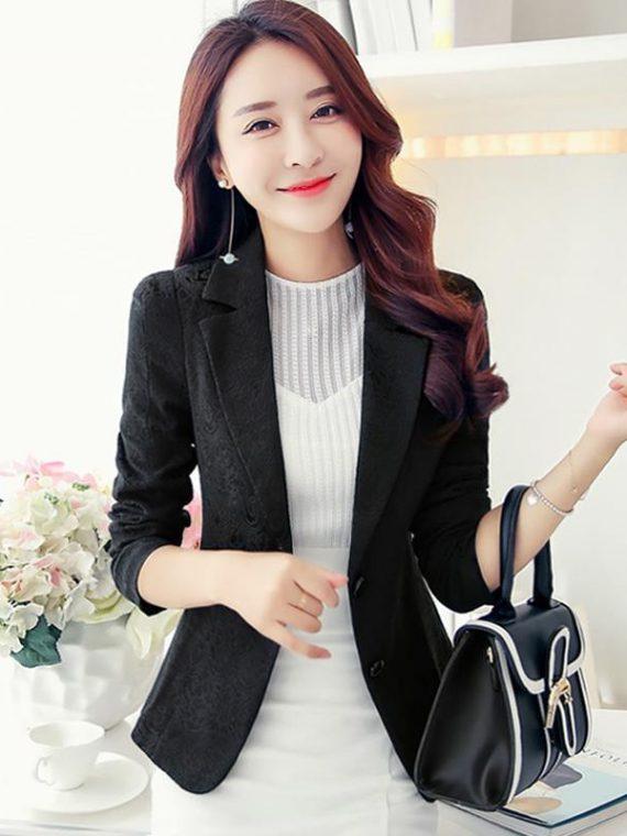 Women Blazers Slim Suit Jackets