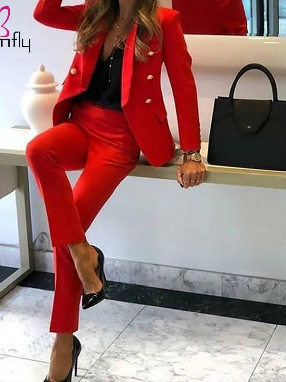 Women Elegant Blazers Pencil Pants